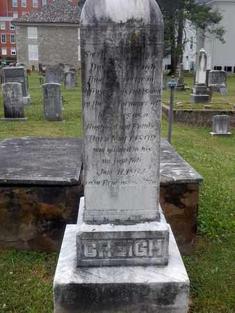 CREIGH, DAVID S - Greenbrier County, West Virginia | DAVID S CREIGH - West Virginia Gravestone Photos