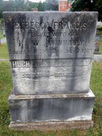 DONNALLY, REBECCA FRANCIS - Greenbrier County, West Virginia | REBECCA FRANCIS DONNALLY - West Virginia Gravestone Photos