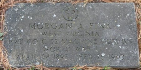 FINK, SR. (VETERAN WWI), MORGAN ANDERSON (NEW) - Greenbrier County, West Virginia | MORGAN ANDERSON (NEW) FINK, SR. (VETERAN WWI) - West Virginia Gravestone Photos