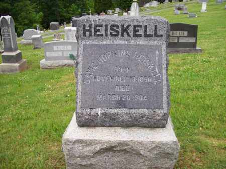 HEISKELL, DAVID HOPKINS - Hampshire County, West Virginia | DAVID HOPKINS HEISKELL - West Virginia Gravestone Photos