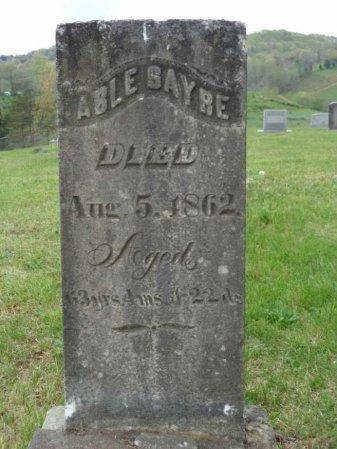 SAYRE, ABLE - Jackson County, West Virginia | ABLE SAYRE - West Virginia Gravestone Photos