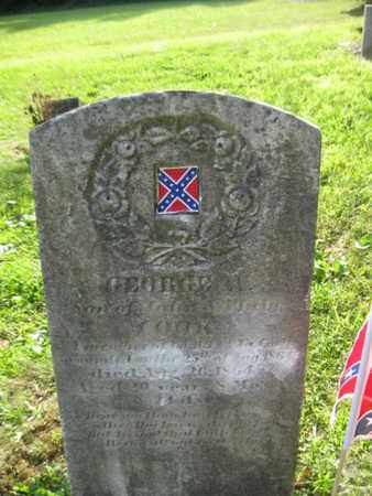 COOK (VETERAN CSA), GEORGE - Jefferson County, West Virginia   GEORGE COOK (VETERAN CSA) - West Virginia Gravestone Photos