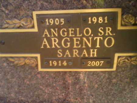 ARGENTO, SARAH - Kanawha County, West Virginia | SARAH ARGENTO - West Virginia Gravestone Photos