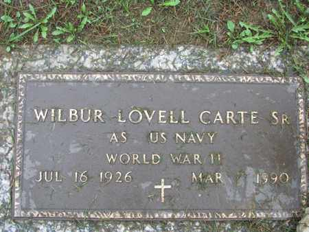 CARTE, SR (VETERAN WWII), WILBUR - Kanawha County, West Virginia | WILBUR CARTE, SR (VETERAN WWII) - West Virginia Gravestone Photos