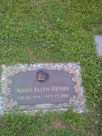 GEYSER, AGNES ELLEN - Kanawha County, West Virginia | AGNES ELLEN GEYSER - West Virginia Gravestone Photos