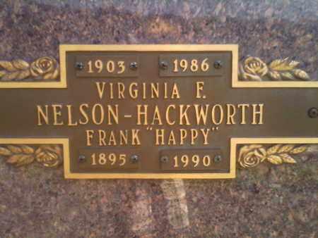 NELSON HACKWORTH, VIRGINIA F - Kanawha County, West Virginia | VIRGINIA F NELSON HACKWORTH - West Virginia Gravestone Photos