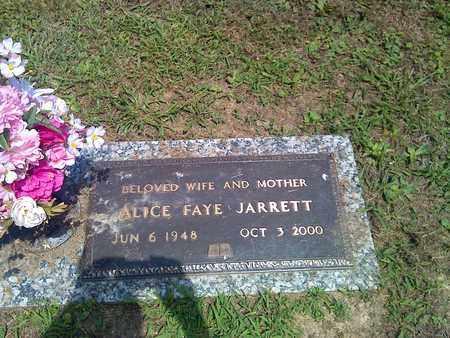 JARRETT, ALICE FAYE - Kanawha County, West Virginia   ALICE FAYE JARRETT - West Virginia Gravestone Photos
