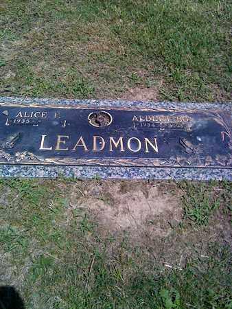"LEADMON, ALBERT ""BO"" - Kanawha County, West Virginia   ALBERT ""BO"" LEADMON - West Virginia Gravestone Photos"