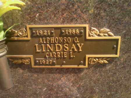 LINDSAY, ALPHONSO - Kanawha County, West Virginia | ALPHONSO LINDSAY - West Virginia Gravestone Photos