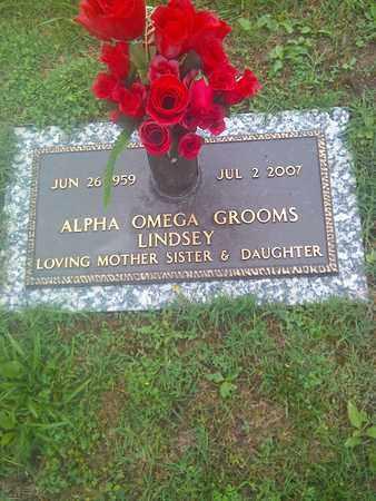 GROOMS LINDSEY, ALPHA OMEGA - Kanawha County, West Virginia   ALPHA OMEGA GROOMS LINDSEY - West Virginia Gravestone Photos