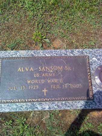 SANSOM (VETERAN WWII), ALVA - Kanawha County, West Virginia | ALVA SANSOM (VETERAN WWII) - West Virginia Gravestone Photos