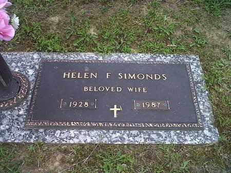 SIMONDS, HELEN F - Kanawha County, West Virginia | HELEN F SIMONDS - West Virginia Gravestone Photos