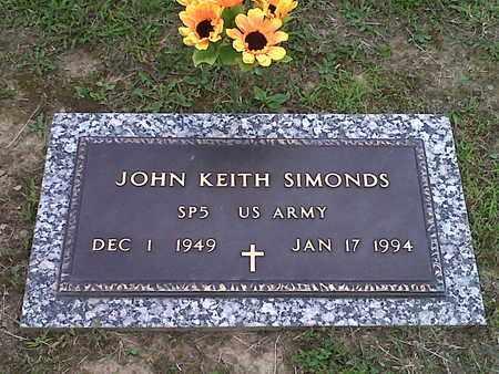 SIMONDS (VETERAN), JOHN KEITH - Kanawha County, West Virginia | JOHN KEITH SIMONDS (VETERAN) - West Virginia Gravestone Photos