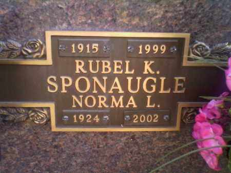 SPONAUGLE, NORMA L - Kanawha County, West Virginia | NORMA L SPONAUGLE - West Virginia Gravestone Photos