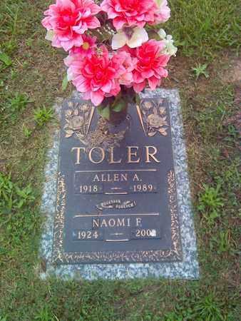 TOLER, ALLEN A - Kanawha County, West Virginia   ALLEN A TOLER - West Virginia Gravestone Photos