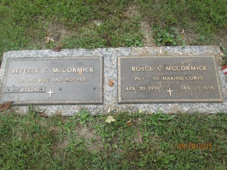 MCCORMICK, BOYCE CLAUDE - Lincoln County, West Virginia | BOYCE CLAUDE MCCORMICK - West Virginia Gravestone Photos