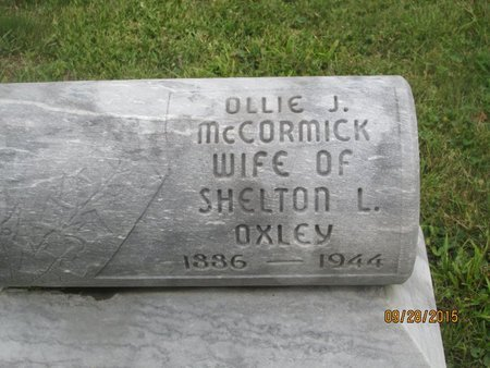 MCCORMICK OXLEY, OLLIE J. - Lincoln County, West Virginia | OLLIE J. MCCORMICK OXLEY - West Virginia Gravestone Photos