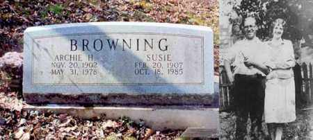 BROWNING, SUSIE - Logan County, West Virginia | SUSIE BROWNING - West Virginia Gravestone Photos