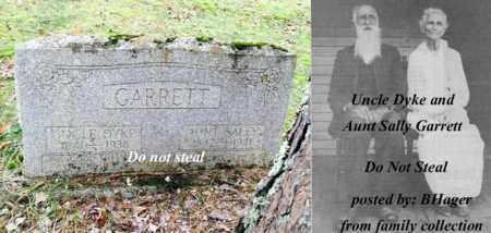 GARRETT, SALLY (AUNT SALLY) - Logan County, West Virginia | SALLY (AUNT SALLY) GARRETT - West Virginia Gravestone Photos