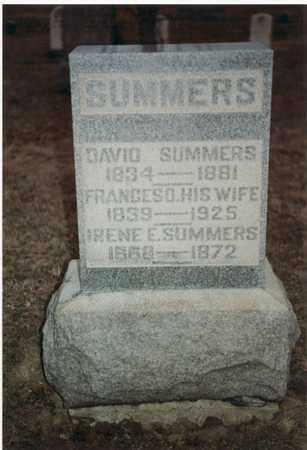 SUMMERS, FRANCES DORCAS - Marion County, West Virginia   FRANCES DORCAS SUMMERS - West Virginia Gravestone Photos