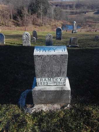 RINE RAMSEY, MAZY JANE - Marshall County, West Virginia | MAZY JANE RINE RAMSEY - West Virginia Gravestone Photos