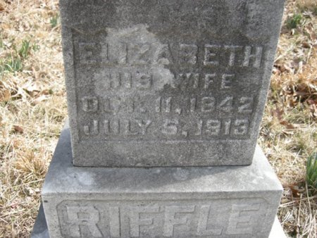 RIFFLE, ELIZABETH - Mason County, West Virginia | ELIZABETH RIFFLE - West Virginia Gravestone Photos