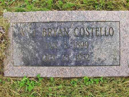 COSTELLO, WJ BRYAN - Preston County, West Virginia | WJ BRYAN COSTELLO - West Virginia Gravestone Photos