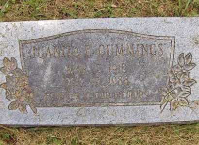 CUMMINGS, JUANITA E - Preston County, West Virginia | JUANITA E CUMMINGS - West Virginia Gravestone Photos