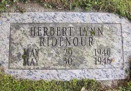 RIDENOUR, HERBERT LYNN - Preston County, West Virginia   HERBERT LYNN RIDENOUR - West Virginia Gravestone Photos