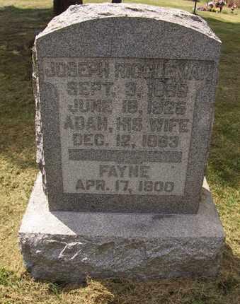 RIGGLEMAN, ADAH - Preston County, West Virginia | ADAH RIGGLEMAN - West Virginia Gravestone Photos