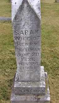 WAMSLEY RIGGLEMAN, SARAH AMANDA - Preston County, West Virginia   SARAH AMANDA WAMSLEY RIGGLEMAN - West Virginia Gravestone Photos