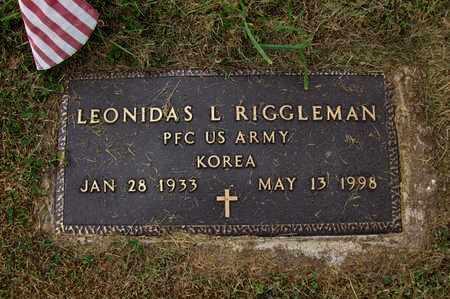 RIGGLEMAN (VETERAN KOR), LEONIDAS L - Preston County, West Virginia | LEONIDAS L RIGGLEMAN (VETERAN KOR) - West Virginia Gravestone Photos