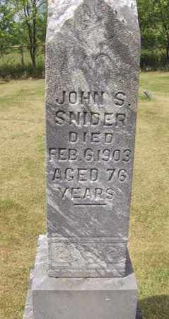 SNIDER, JOHN S - Preston County, West Virginia   JOHN S SNIDER - West Virginia Gravestone Photos