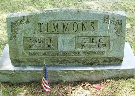 TIMMONS, ETHEL GRACE - Preston County, West Virginia | ETHEL GRACE TIMMONS - West Virginia Gravestone Photos