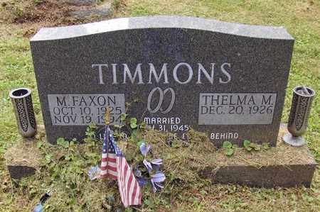 TIMMONS, MONROE FAXON - Preston County, West Virginia | MONROE FAXON TIMMONS - West Virginia Gravestone Photos