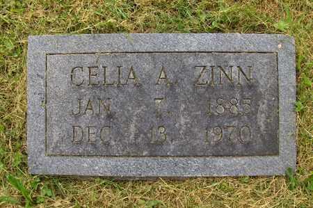 ZINN, CELIA AGNES - Preston County, West Virginia | CELIA AGNES ZINN - West Virginia Gravestone Photos