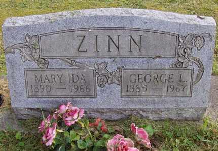 ZINN, MARY IDA - Preston County, West Virginia | MARY IDA ZINN - West Virginia Gravestone Photos