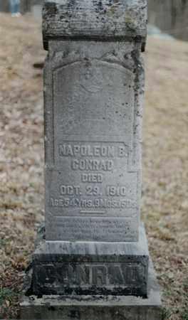 CONRAD, NAPOLEON BONAPARTE - Randolph County, West Virginia | NAPOLEON BONAPARTE CONRAD - West Virginia Gravestone Photos