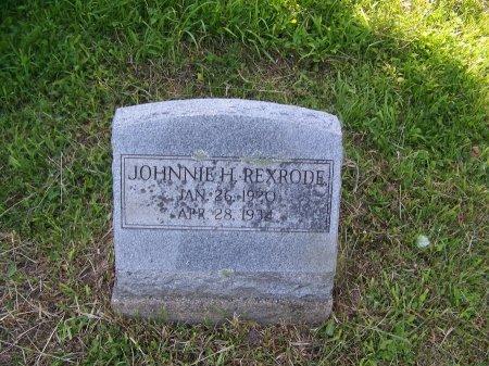 REXRODE, JOHNNIE E. - Randolph County, West Virginia | JOHNNIE E. REXRODE - West Virginia Gravestone Photos