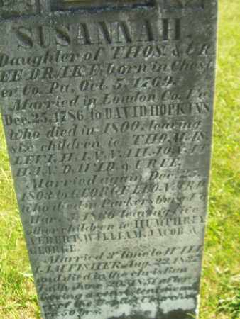 HOPKINS, SUSANNAH - Wirt County, West Virginia | SUSANNAH HOPKINS - West Virginia Gravestone Photos