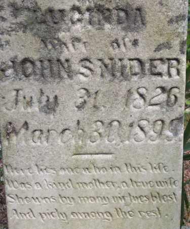 SNIDER, LUCINDA - Wirt County, West Virginia | LUCINDA SNIDER - West Virginia Gravestone Photos