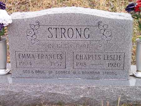 STRONG, EMMA FRANCES - Wirt County, West Virginia | EMMA FRANCES STRONG - West Virginia Gravestone Photos
