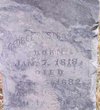 STRONG, GEORGE WASHINGTON - Wirt County, West Virginia | GEORGE WASHINGTON STRONG - West Virginia Gravestone Photos