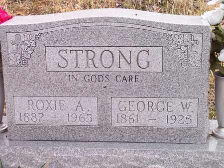 STRONG, ROXIE A. - Wirt County, West Virginia   ROXIE A. STRONG - West Virginia Gravestone Photos