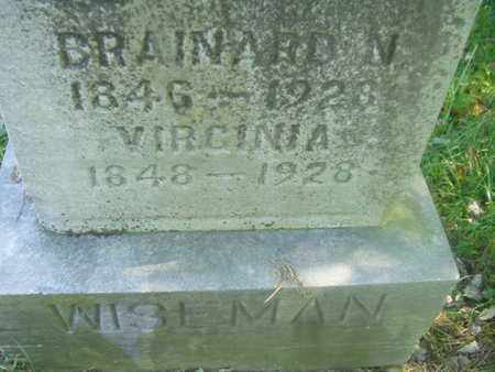 WISEMAN, BRAINARD NIMROD - Wirt County, West Virginia | BRAINARD NIMROD WISEMAN - West Virginia Gravestone Photos