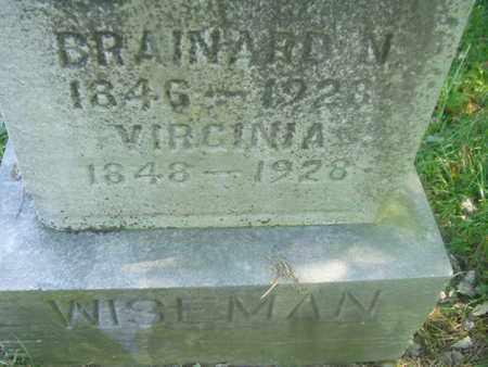 HOPKINS WISEMAN, VIRGINIA - Wirt County, West Virginia | VIRGINIA HOPKINS WISEMAN - West Virginia Gravestone Photos