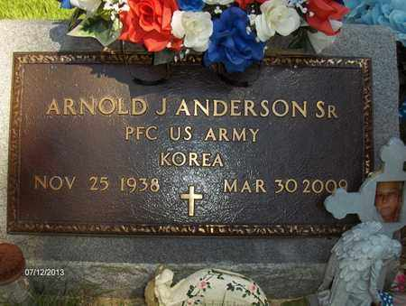 ANDERSON SR (VETERAN KOR), ARNOLD J - Wood County, West Virginia | ARNOLD J ANDERSON SR (VETERAN KOR) - West Virginia Gravestone Photos