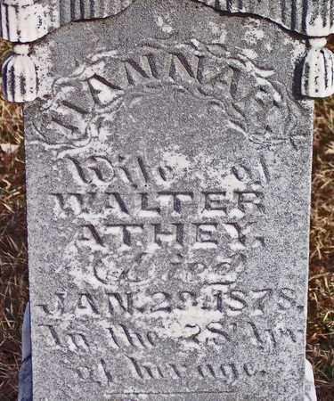 ATHEY, HANNAH - Wood County, West Virginia | HANNAH ATHEY - West Virginia Gravestone Photos
