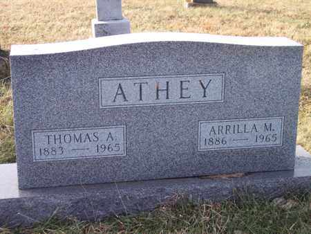 ATHEY, ARRILLA - Wood County, West Virginia   ARRILLA ATHEY - West Virginia Gravestone Photos