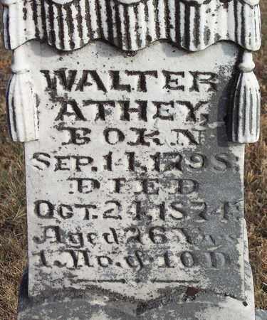 ATHEY, WALTER - Wood County, West Virginia | WALTER ATHEY - West Virginia Gravestone Photos